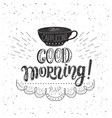 banner with coffee quotes hand-drawn vector image