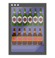 beer in fridge drink in cold container vector image vector image