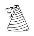 birthday hat icon vector image vector image
