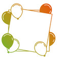birthday template with flying balloons and empty vector image vector image