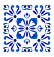 blue and white floral frame design vector image vector image