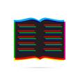 Book icon with shadow vector image vector image