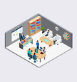 boss and employees isometric composition vector image vector image