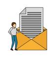 business man email vector image vector image