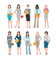 Business women in smart suit isolated on white vector image