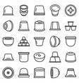 capsule coffee icons set outline style vector image vector image