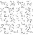 cats seamless vector image vector image