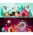 Circus day and night vector image vector image
