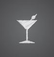 cocktail sketch logo doodle icon vector image vector image