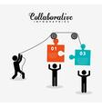 collaborative concept design vector image vector image
