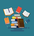concept of graduation books vector image