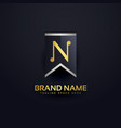 create letter n logo design template vector image vector image