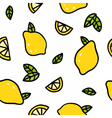 Cute lemons on a white background vector image