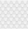 decorative white geometric texture - 3d vector image vector image
