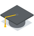 education black cap on white background attribute vector image
