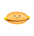 flat cheeseburger with cutlet and cheese vector image vector image