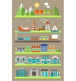 Flat city infographics vector image vector image