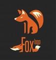 fox logo 3 vector image vector image