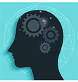 Gear Head Brain vector image vector image