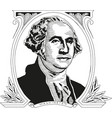 george washington first president the vector image vector image