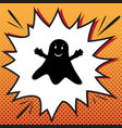 ghost sign comics style icon on pop-art vector image