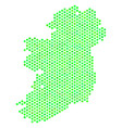 green hexagon ireland island map vector image vector image