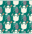 halloween ghost seamless pattern background night vector image