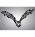 Hand drawn graphic ornate bat vector image vector image