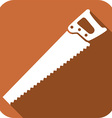 Hand Saw Icon vector image vector image