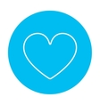 Heart sign line icon vector image vector image