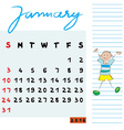 january 2016 kids vector image vector image