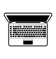 laptop computer topview icon imag vector image vector image