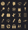magistracy icons set simple style vector image vector image