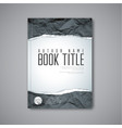 modern abstract book cover template vector image vector image