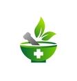 mortar pestle logo symbol medicine pharmacy icon vector image vector image