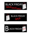 Paper Shopping Bags for Black Friday Special vector image vector image