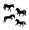 Pony silhouettes vector image vector image