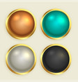 premium golden shiny buttons set vector image vector image