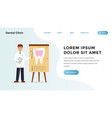 quick dental problem identification landing vector image vector image