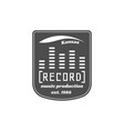 recording studio label badge emblem logo vector image vector image