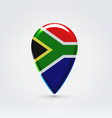 Republic of South Africa icon point for map vector image