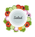 salad vegetables food fresh diet poster vector image vector image