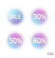 Sale beautiful design element for greeting card vector image vector image