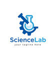 science logo design inspiration vector image
