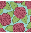 seamless pattern in roses and leaves lace vector image vector image