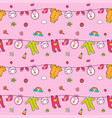 seamless pattern with cute baby clothes vector image vector image