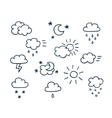 set hand-drawn weather icons vector image vector image