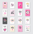 set of happy mother day greeting cards with vector image vector image