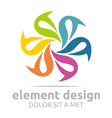spin colorful element design symbol icon vector image vector image