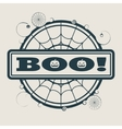 Stamp with Boo text vector image vector image